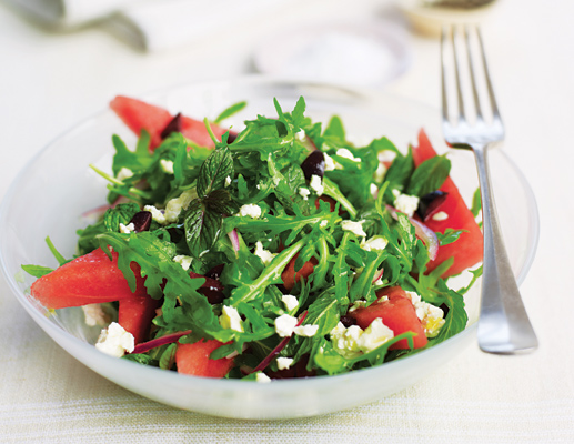 Watermelon, Arugula, Feta and Mint Salad | Dr Ameera Adam